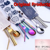 Sendok Garpu Cutlery Set Korea Japan Peralatan Makan Stainless Travel