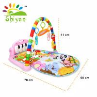 baby gym playmat music bayi playmat matras mainan piano berkarakter da - sy-9616