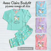 Anne Claire Body Fit Piyama Kaos Dewasa Remaja Panjang-Panjang