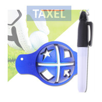 Penanda Garis Bola Golf Ball Line Liner Mark Pen Marker Simbol