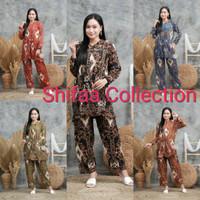 Baju Stelan Teidy One Set Motip Sultan Rayon Santung Super