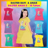 dress anak perempuan 0-10 tahun frozen elsa aneka warna / daster anak