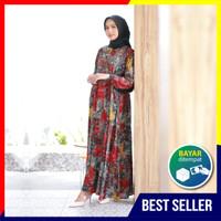Homey Dress Najwa - Bahan Katun Rayon Premium - Gamis Motif Jumbo