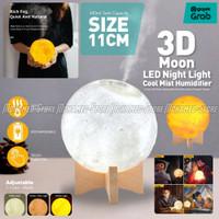 11CM Moon 3D 550ML Humidifier Diffuser Lampu Tidur Bulan Aroma Terapi