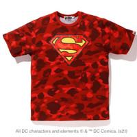 Bape x DC Color Camo Superman Edition Tee