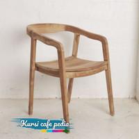 kursi cafe minimalis kayu jati kontruksi kuat