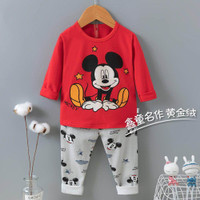 Piyama Anak Import/Piyama Red Mickey (PP)/Piyama import anak 1-10th