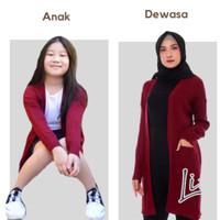 baju rajut wanita panjang cardigan wanita anak outer wanita muslim