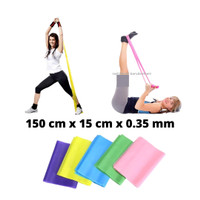 Karet tension resistance stretch band untuk exercise gym yoga pilates