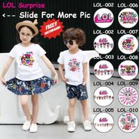 Kaos Anak / Baju Anak LOL Surprise (Free Nama)