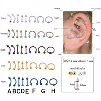 PIERCING EARRING STAINLESS TIPE A - H