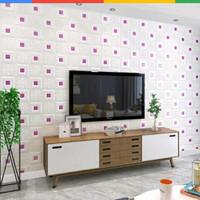wallpaper foam peredam panas pada plafon-batik kristal ungu tipe A
