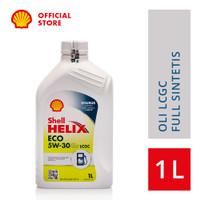 Oli Mesin Mobil LCGC Shell Helix ECO 5W-30 (1L)+Ganti Oli di Tempat