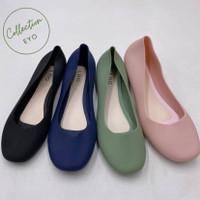 Sepatu Wanita Jelly Import Flat Shoes / Flatshoes Jelly Karet Murah