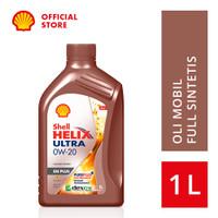 Oli Mesin Mobil Shell Helix Ultra 0W-20 (1L)+Ganti Oli di Tempat