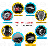 (New Scoopy) Honda ORI Paket Aksesoris Komplit - 8 Item