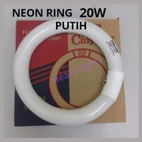 LAMPU NEON RING 20W PUTIH/TL BULAT 20W PUTIH/LAMPU FCL 20W CHIYODA
