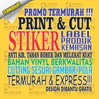 Custom Stiker, Label Makanan, Label Minuman, Label Produk, Stiker 01 - CM