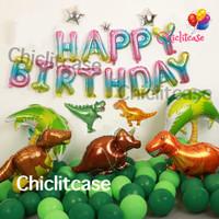 Set paket balon dinosaurus t rex birthday dekorasi pesta ulang tahun