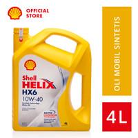 Oli Mesin Mobil Shell Helix HX6 10W-40 (4L)+Ganti Oli di Tempat