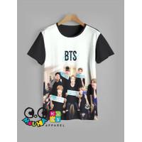 kaos anak BTS baju anak BTS v1 (9 -12)