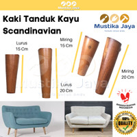 Kaki Sofa Kayu Tanduk Bubut Kayu Retro 15 Cm 20 Cm Scandinavian Murah