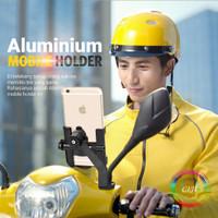CIJI Phone Holder Motor Desain Rotasi Horizontal Bahan Alumunium