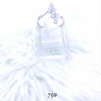cincin emas putih simple asli