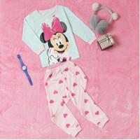 Setelan Piyama Baju Tidur Kaos Anak Perempuan Cewek Umur 2-8 th Murah