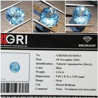 Batu Blue Aquamarine Beryl Memo 2.54 ct