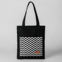 Pamole - Tote Bag Bahan Kanvas Full Furing dan Penutup Resleting
