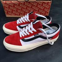 Sepatu Vans Old Skool OG Merah Putih hitam gratis tali sepatu