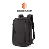ARCTIC HUNTER B00187 Backpack Bag USB 18 - Tas Ransel Laptop BLACK