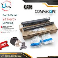 Patchpanel 24Port Patch Panel 24 Port CAT6 AMP Commscope