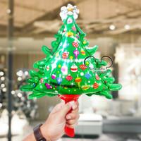 Balon Natal / Balon Foil Pohon Natal Mini / Balon Pohon Natal