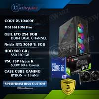 Pc Rakitan Gaming i5 10400F ft RTX 3060 Ti 3060Ti Setara 2080 Super