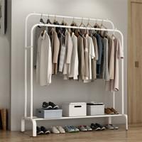 HOVELSHOP Rak Model Gawang Double Standing Hanger Besi Gantungan Baju