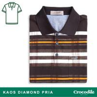 Crocodile DIAMOND 1657 Brown - Baju Kaos Kerah Pria Men Polo Original