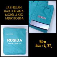 jas hujan baju celana Rosida model jas hujan axio