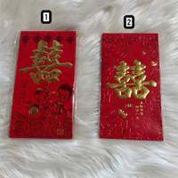 Angpao shuang xi nikah merit double happiness besar ampau wedding