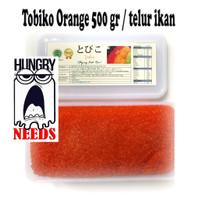 Tobiko Orange 500 Gr Grade A / Telur Ikan terbang Premium