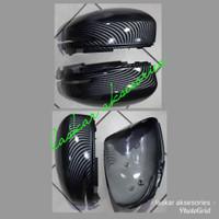 cover / caver spion honda all new brio rs hitam carbon model ganti