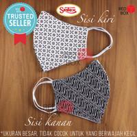 Masker Sritex Batik 3 ply Premium Earloop Kain Non Medis Lapis 3ply