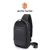 ARCTIC HUNTER XB00105 Crossbody Bag USB - Tas Selempang BLACK