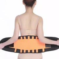 Lumbosacral corset pinggang bawah hitam orange