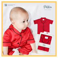 Petito Piyama Baju Tidur Bayi Anak / Red Love
