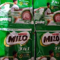MILO 3 in 1 (Serbuk Cokelat + Susu + Ekstrak Malt Gandum)