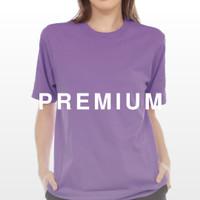 Kaos Polos Warna Lilac Ungu Muda Bahan Cotton Combed 30s Premium Katun