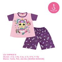 Baju Setelan Anak Perempuan Pendek 2-10 Tahun LOL Surprise! B Shirton