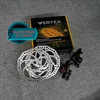 Caliper vertex brake set rem cakram sepeda LIPAT MTB